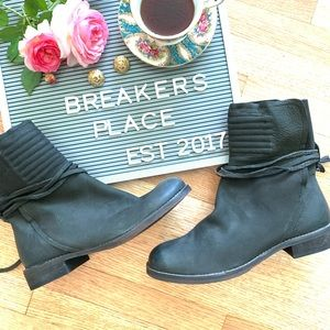 Free People Cambridge Leather Wrap Boot New